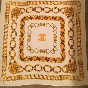 Vintage silk  Chanel Scarf